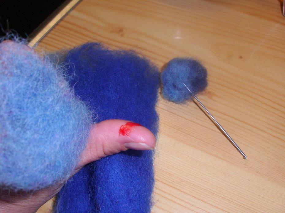 1. Versuch Nadelfilzen