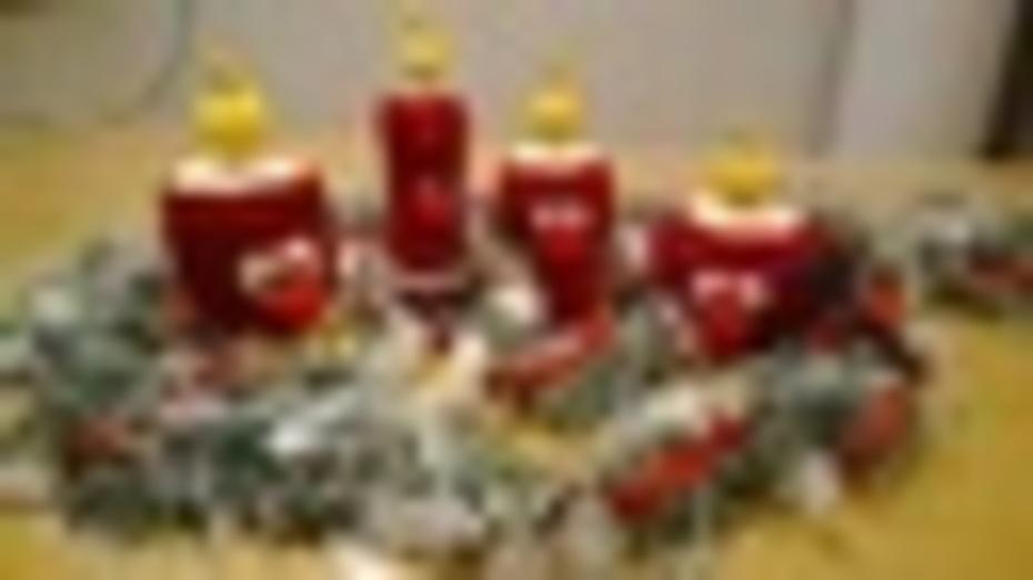 Genau zum 1. Advent meine Kerzchen