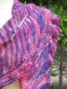 """Dreiecktuch """"purple pink Batik"""" mit Rüschen"""