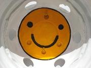 der lächelnde Wasserschlauchhalter