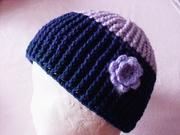 Mütze Monk lila-dunkelblau