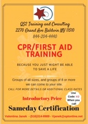 Save a life with QS2 flyer