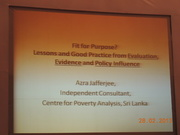 Fit for Purpose? Evaluations, Evidence and Policy Influence
