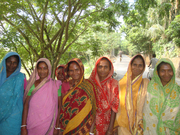Happy faces of rural women in group