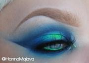 Neon Green & Blue Halo