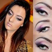 purple & pink makeup