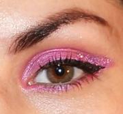 Pink Glitter Eyes!