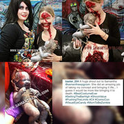 Zombie Mom & Zombie Baby with exposed brains