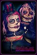 Custom sculpted voodoo head & Voodoo priest make up by VisualEyeCandy