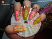 Floral Cut Out Nails w/ Cuticle Tattoo