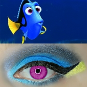 Finding Dory Inspired Makeup