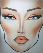 Hot Orange Face Chart