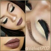 Gold Brown Fall Makeup #2