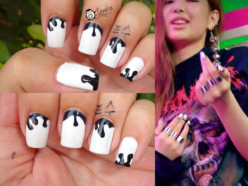 Halloween Monochrome Nails