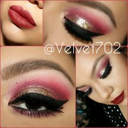 Holiday Glitter Glam Makeup