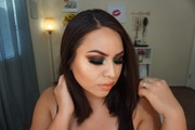 Black Smokey eye with a pop of color