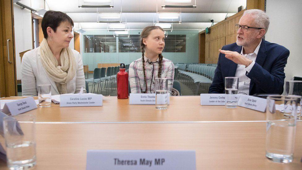 BBC: Greta Thunberg: Teen activist says UK is 'irresponsible' on climate