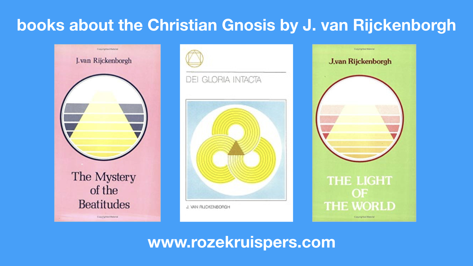 All Articles - Books by the founders - Golden Rosycross