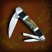Wild Horse Knives customized Case Seahorse Whittler