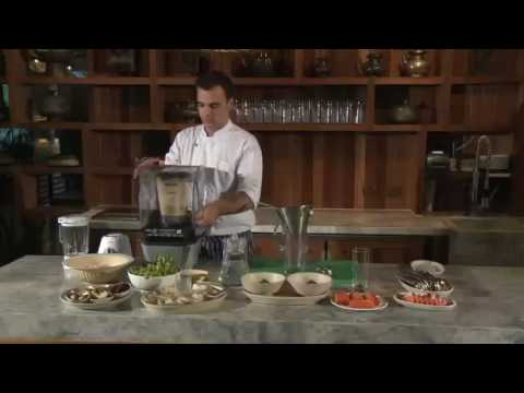 Cooking almond milk - Kamalaya spa resort Thailand