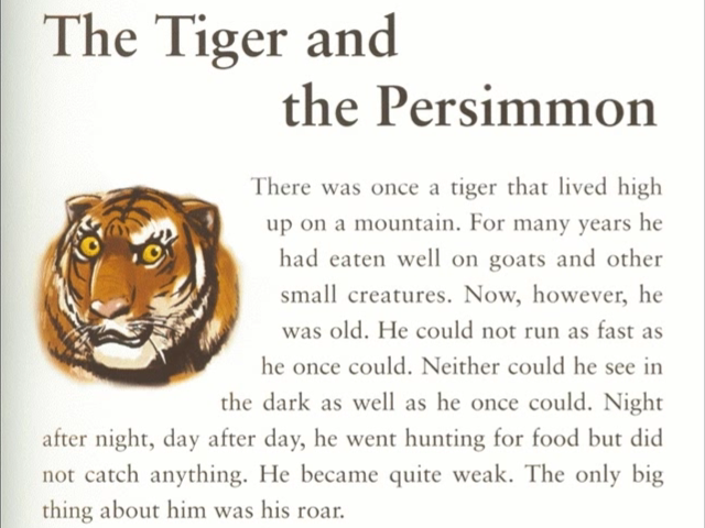 The Tiger and the Parsimmon