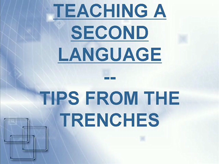 Teaching a Second Language - tips