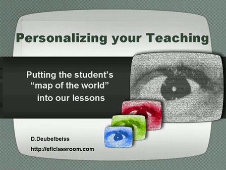 Personalizing Content - Lesson Ideas
