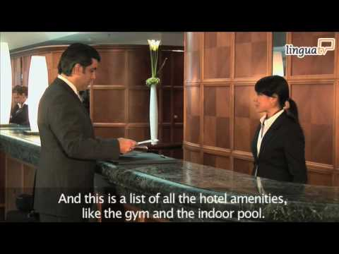CHECKING IN A HOTEL - English Video Training by LinguaTV