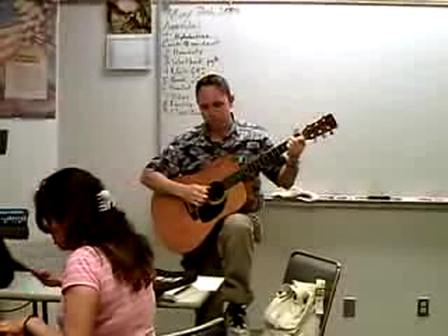 Ever play guitar in class?