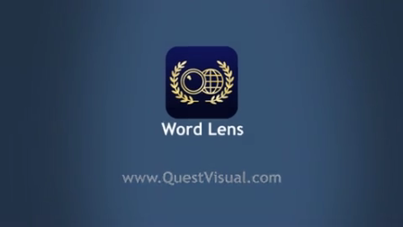 Introducing Word Lens