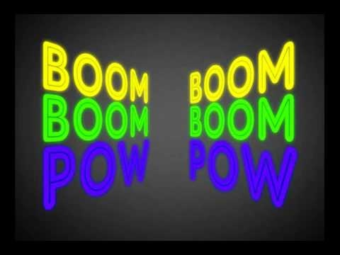 Boom Boom Pow (Kinetic Typography)