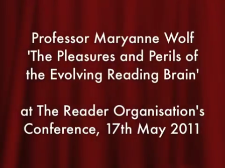 Maryanne Wolf: The brain and reading
