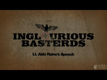 Inglorious Bastards Speech