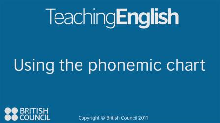 The Phonemic chart