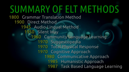 Summary of ELT Methods