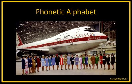 Phonetic Alphabet for Pilots
