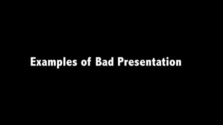 Good & Bad Presentations