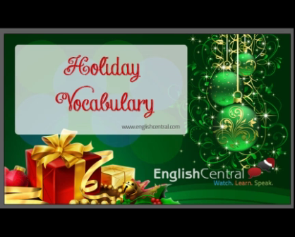Holiday vocab