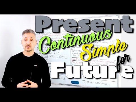 Present Continuous & Present Simple for the Future (OTTIMA Spiegazione - Da vedere !)