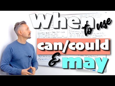 When to use CAN/COULD and MAY (GREAT lesson - MUST WATCH - Cambridge Examinations)