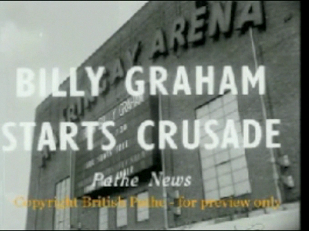 Billy Graham at the Harringay Arena, March 1954