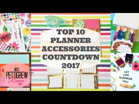 Top 10 Planner Supplies for Planner Organization || Happy Planner 2017