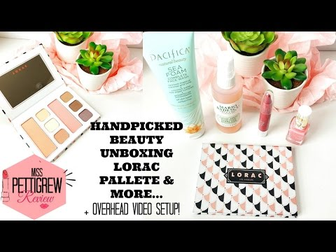 Handpicked Beauty Box Unboxing: Lorac Pallete, Pur and more! + Easy Overhead Video Setup!