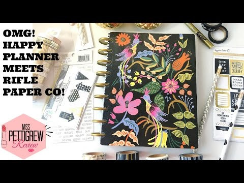 DIY Happy Planner Cover w/ Rifle Paper Co Stationary + Happy Planner Giveaway Win!