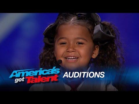 "Heavenly Joy: A Cute Kid Taps and Sings ""In Summer"" from Frozen - America's Got Talent 2015"
