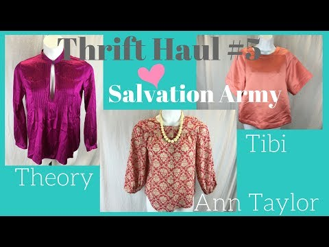 Thrift Haul #5: Ann Taylor, Theory, Tibi (NWT) & More