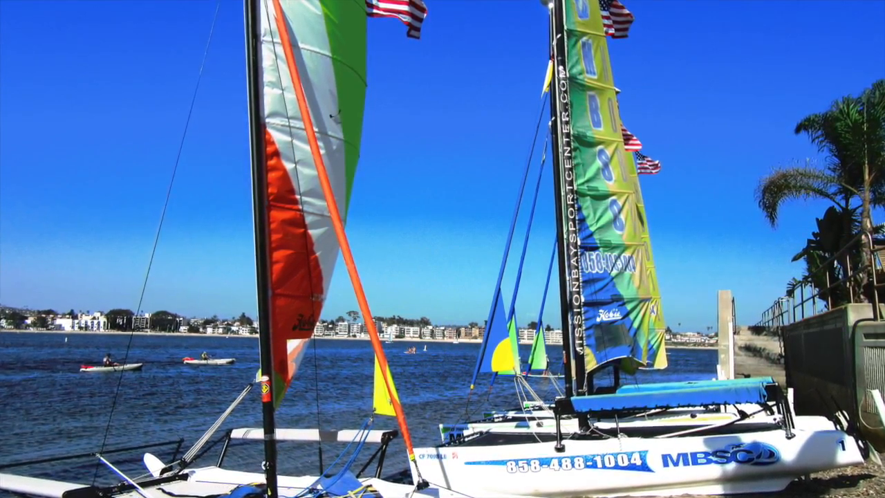 Hobie Cat Sailing in San Diego