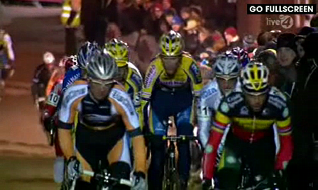 Aernouts and Page crash at Diegem Superprestige