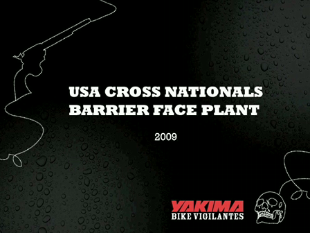 Nationals Barrier Face Plant Crash