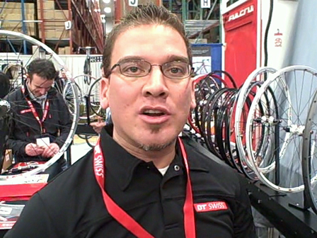 Paul from DT Swiss Walking Through Their Wheel Lineup at Frostbike